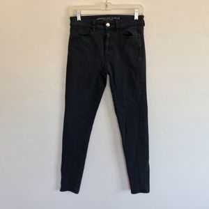 American Eagle Outfitters Black High Rise Jeggings